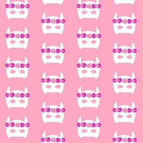 super hero girls crown flower crown cute girls sweet girly pink fabric