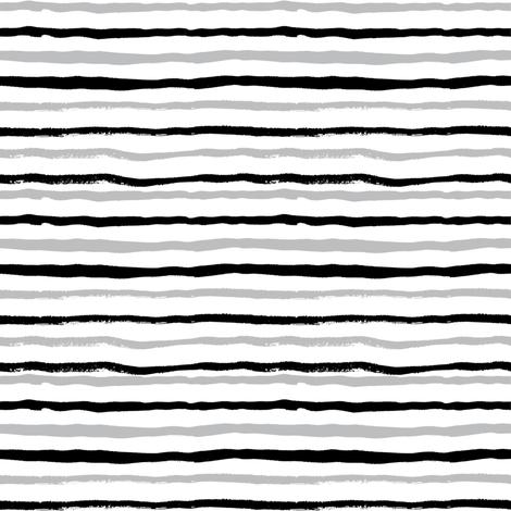 grey and black painted stripes stripe kids nursery baby boys fabric by charlottewinter on Spoonflower - custom fabric