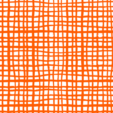 orange grid painted stripes kids halloween costume halloween fabric fabric by charlottewinter on Spoonflower - custom fabric
