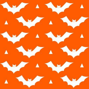 halloween bat orange kids scary spooky orange