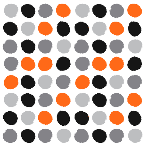 grey orange black painted dots dots kids  fabric by charlottewinter on Spoonflower - custom fabric