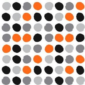 grey orange black painted dots dots kids