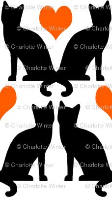 orange black halloween cat cats kids