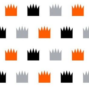 crown orange kids boys room orange grey black