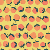 oranges // orange and yellow color nursery