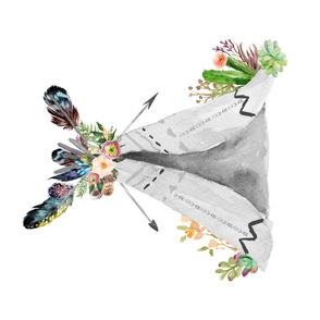 Wild Love Teepee - Sideways - 1 Teepee to 1 Yard