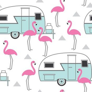 trailers-and-flamingos-on-white