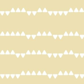 Tiny triangles - pale yellow || by sunny afternoon
