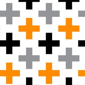 Orange Black Grey Cross