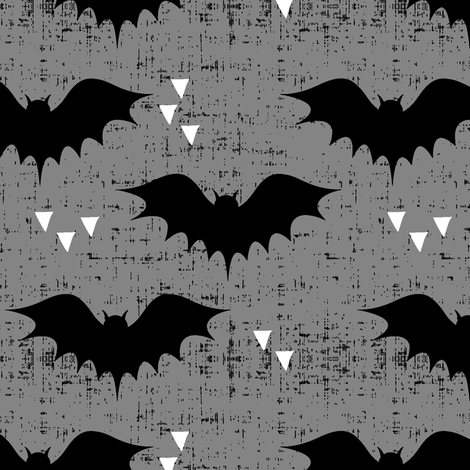 bats || grey with white triangles fabric by littlearrowdesign on Spoonflower - custom fabric