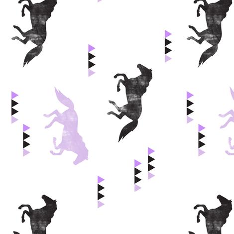 Wild horses (90) // purple distressed fabric by littlearrowdesign on Spoonflower - custom fabric