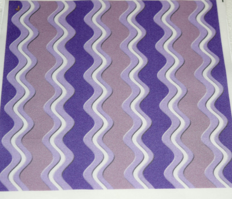 Purple Lavender and White Rickrack