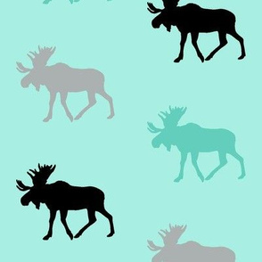 Multi Moose || teal & black