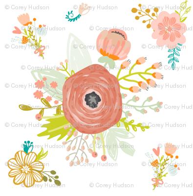 Pretty Peach Pink Blooms