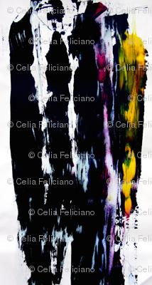 Black Multi color print
