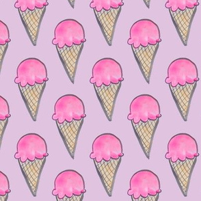 ice cream cone in pink