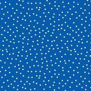 Royal Blue and White Swiss Dot Polka Dot