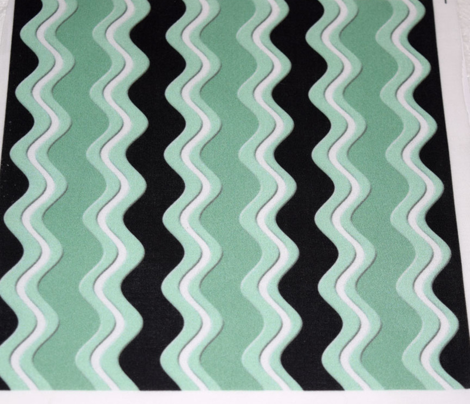 Mint Green white and Black Rickrack