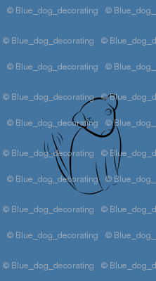 Wagging Dog in Light Blue