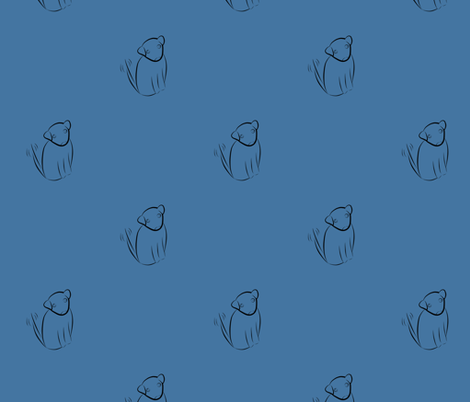 Wagging Dog in Light Blue fabric by blue_dog_decorating on Spoonflower - custom fabric