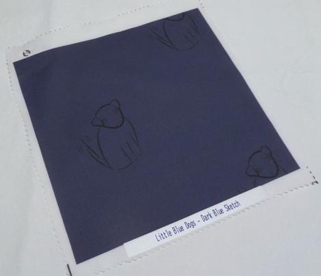 Wagging Dog in Dark Blue
