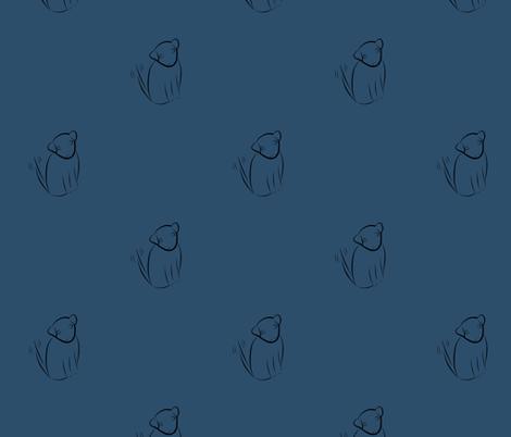 Wagging Dog in Dark Blue fabric by blue_dog_decorating on Spoonflower - custom fabric