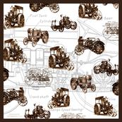 Vintage Tractors- Sepia