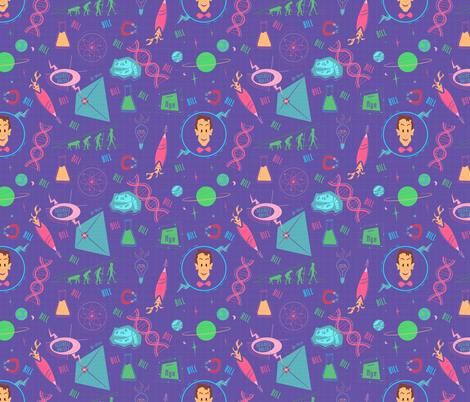 Science Rules! fabric by brianrechenmacher on Spoonflower - custom fabric