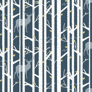 Into the woods - deer // slate and Mustard