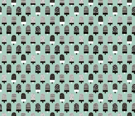 Scandinavian popsicle ice cream summer illustration pattern mint boys fabric by littlesmilemakers on Spoonflower - custom fabric