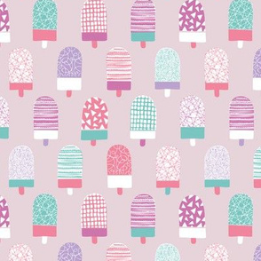 Colorful popsicle ice cream summer illustration pattern lilac