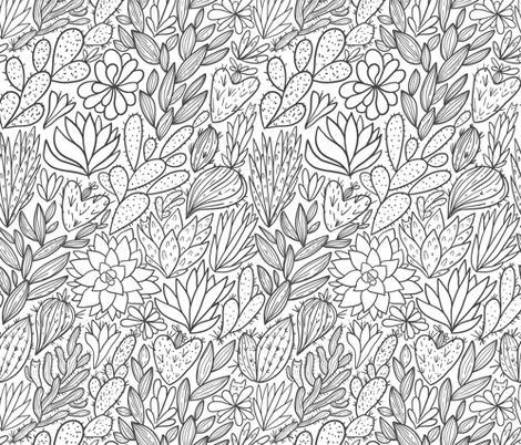 cactus and succulents fabric by kostolom3000 on Spoonflower - custom fabric