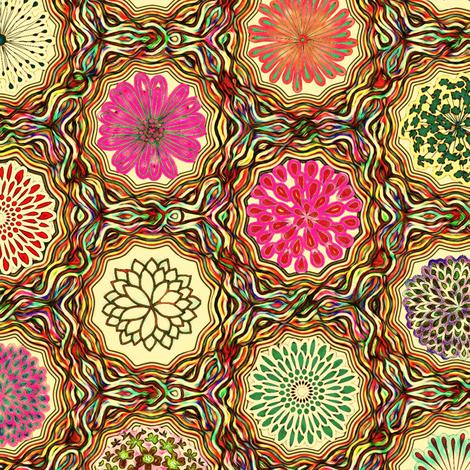 lassie's flowers yellow fabric by keweenawchris on Spoonflower - custom fabric