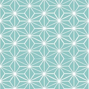 Star Tile in Duckegg Blue