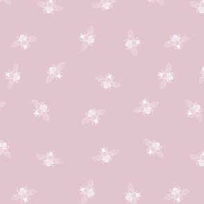 Bee White on Ballerina Pink