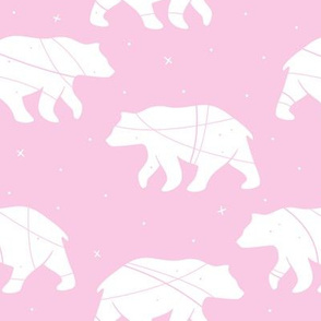 Bear Silhouette on Pink