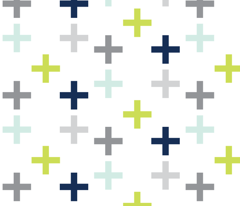 lime_navy fabric by graceandcruzdesigns on Spoonflower - custom fabric