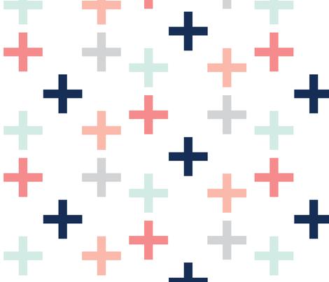 navy_pinks fabric by graceandcruzdesigns on Spoonflower - custom fabric