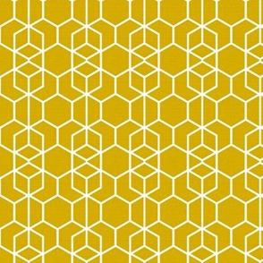 Geo Frame Gold Linen