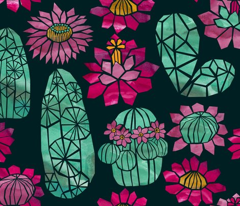 Rtropical_cactus_flowers_watercolour_pink_green_shop_preview