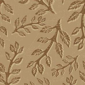 Branch Linocut Block Print