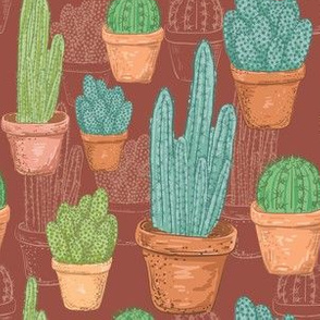 Doodled Cactus Collection