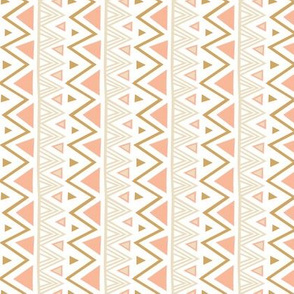 Pastel Tribal Coral- vertical