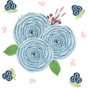 Blue Summer Blooms