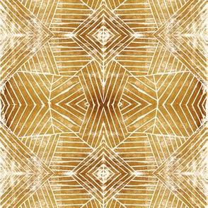 Geometric Lines Linocut Block Print
