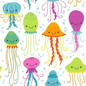 Cute Summer Jelly Fish, Colorful Kids Colors for the Beach