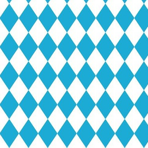 German Oktoberfest Beer Blue Diamond Pattern