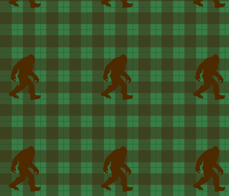 Bigfoot Plaid fabric by krystalsavage on Spoonflower - custom fabric