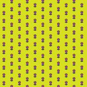 Little flower - purple on chartreuse