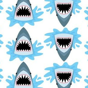 Cute Summer Shark Pattern